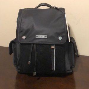 Calvin Klein Black, Nylon backpack, NWT,